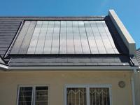 Heliocol Solar Pool Heating System - Three and a Half Panels on Sloped Roof