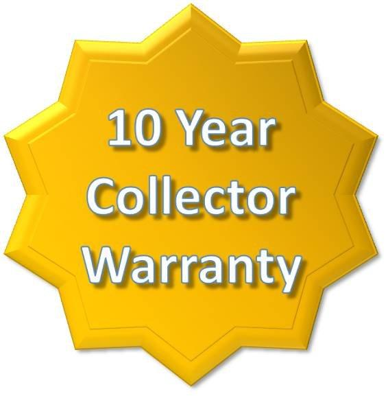 10 Year Manufacturer Warranty on Solar Pool Panels